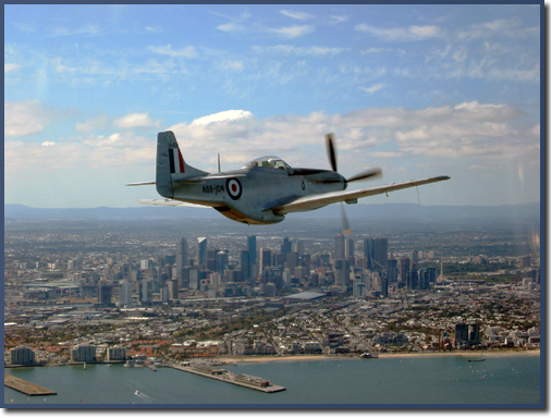 Mustang Joy Flights over Melbourne